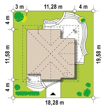 Элегантный классический дом с изящными мансардными окнами и балконами. план помещений 1