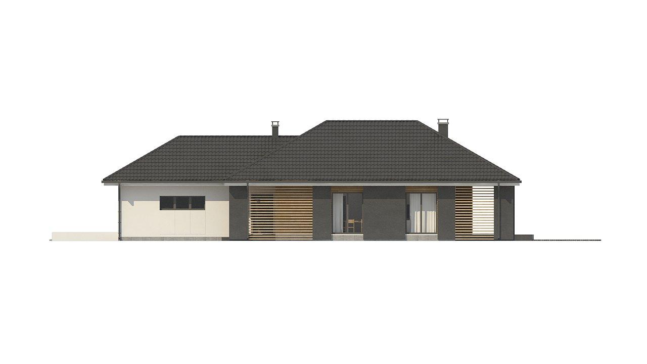 Одноэтажный дом в современном стиле с двойным гаражом 23