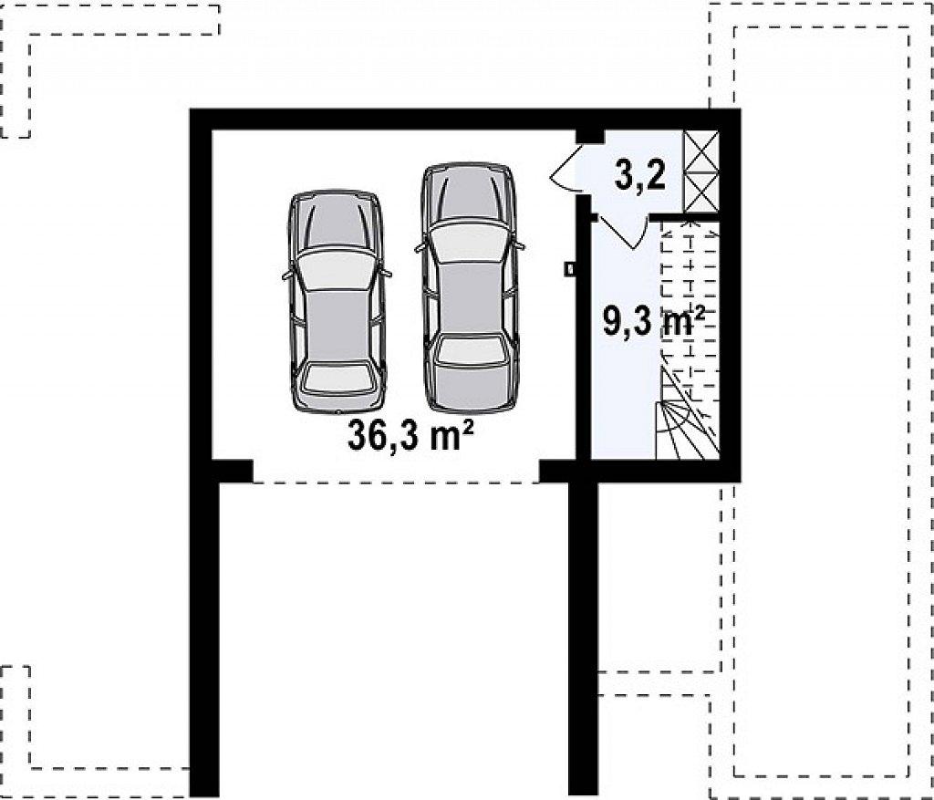 Дом в современном стиле с подвалом план помещений 1