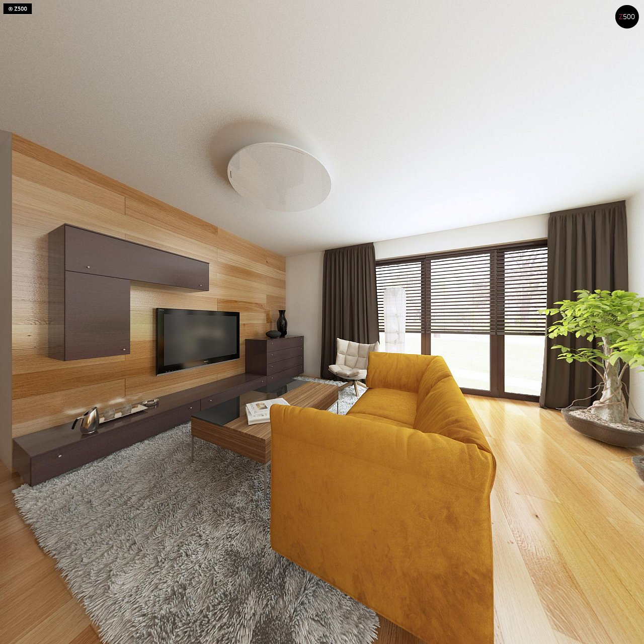 Небольшой дом с дополнительной комнатой на первом этаже, большим хозяйственным помещением и эркером в столовой. 8