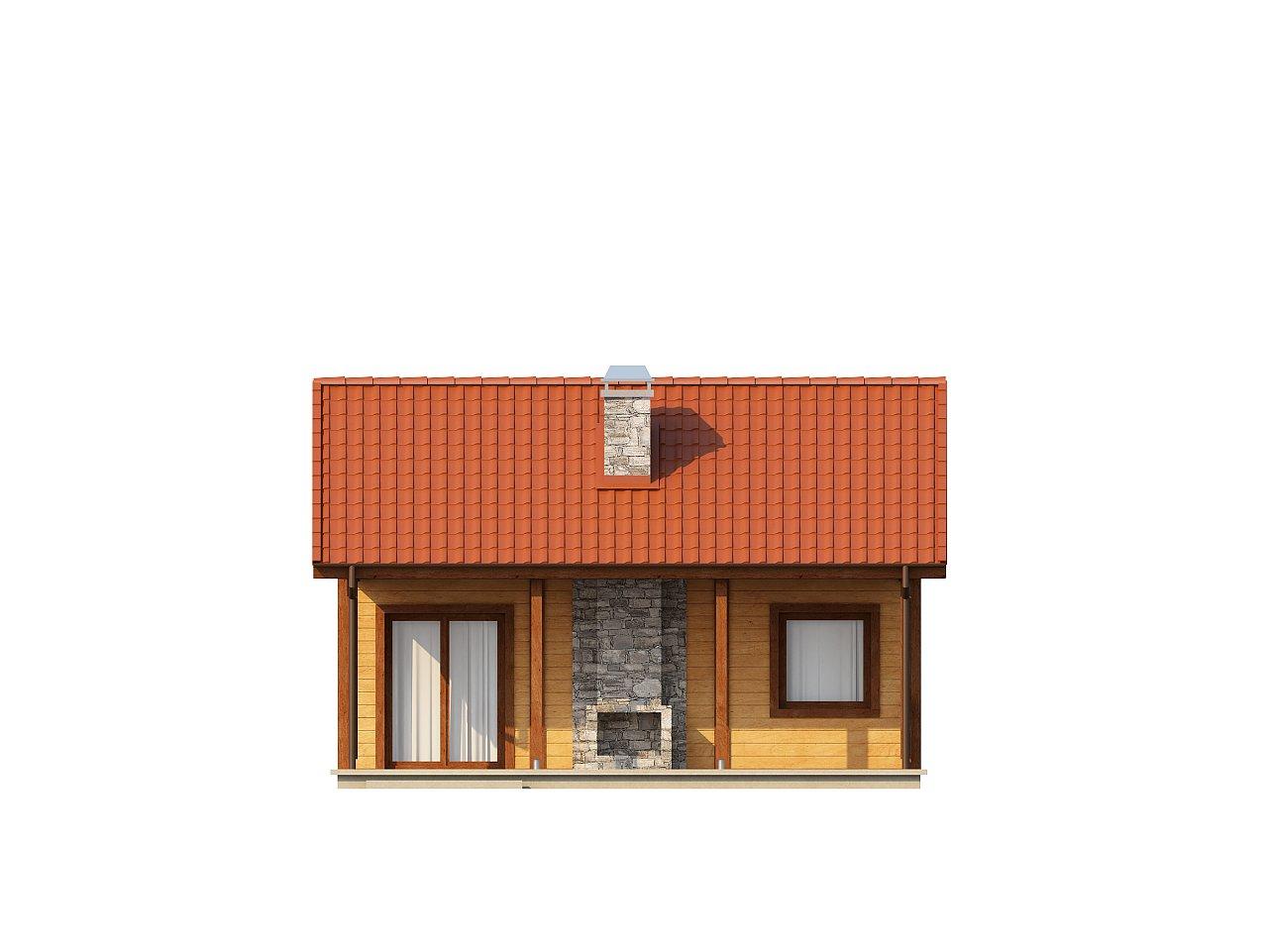 Маленький одноэтажный дом, оснащенный всем необходимым для круглогодичного проживания. 13