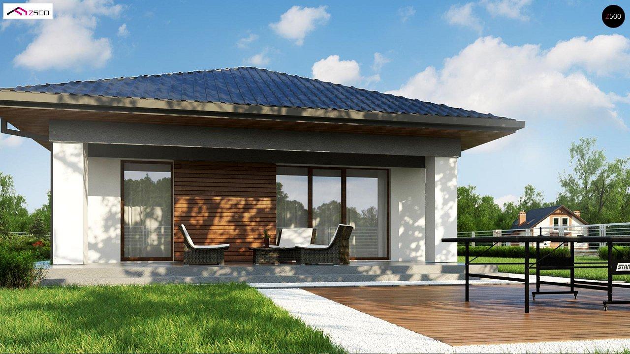 Проект уютного одноэтажного дома с 3 спальнями 4