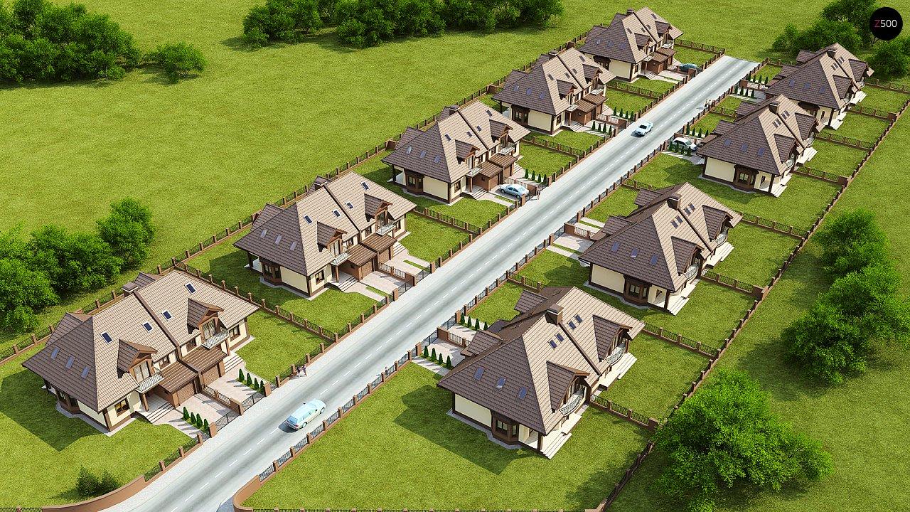 Проект домов близнецов с гаражом и дополнительным помещением на чердаке. 4