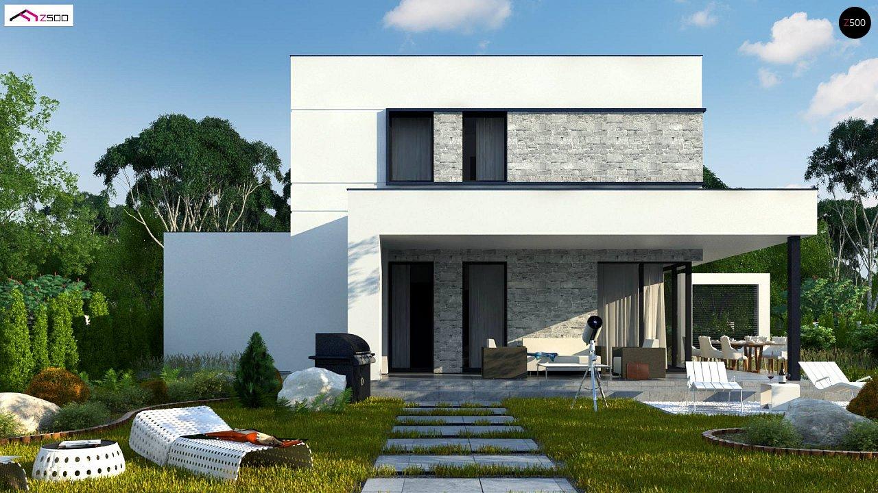 Проект двухэтажного дома с дополнительной комнатой на первом этаже и гаражом на один автомобиль. 5