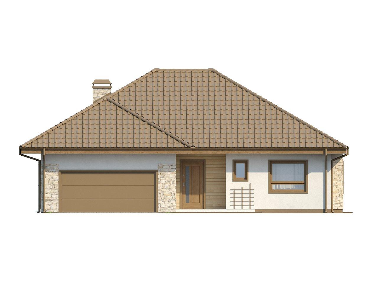 Одноэтажный удобный дом с фронтальным гаражом, с возможностью обустройства мансарды. - фото 14