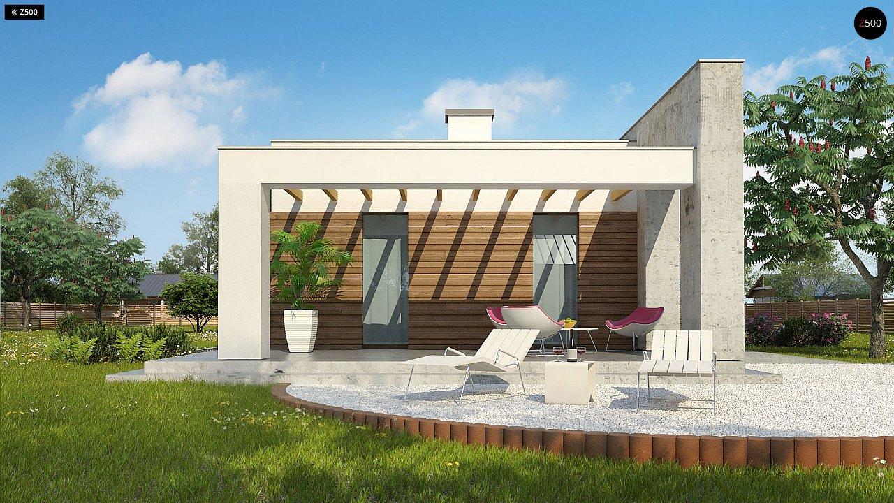 Комфортный одноэтажный дом для узкого участка. 5