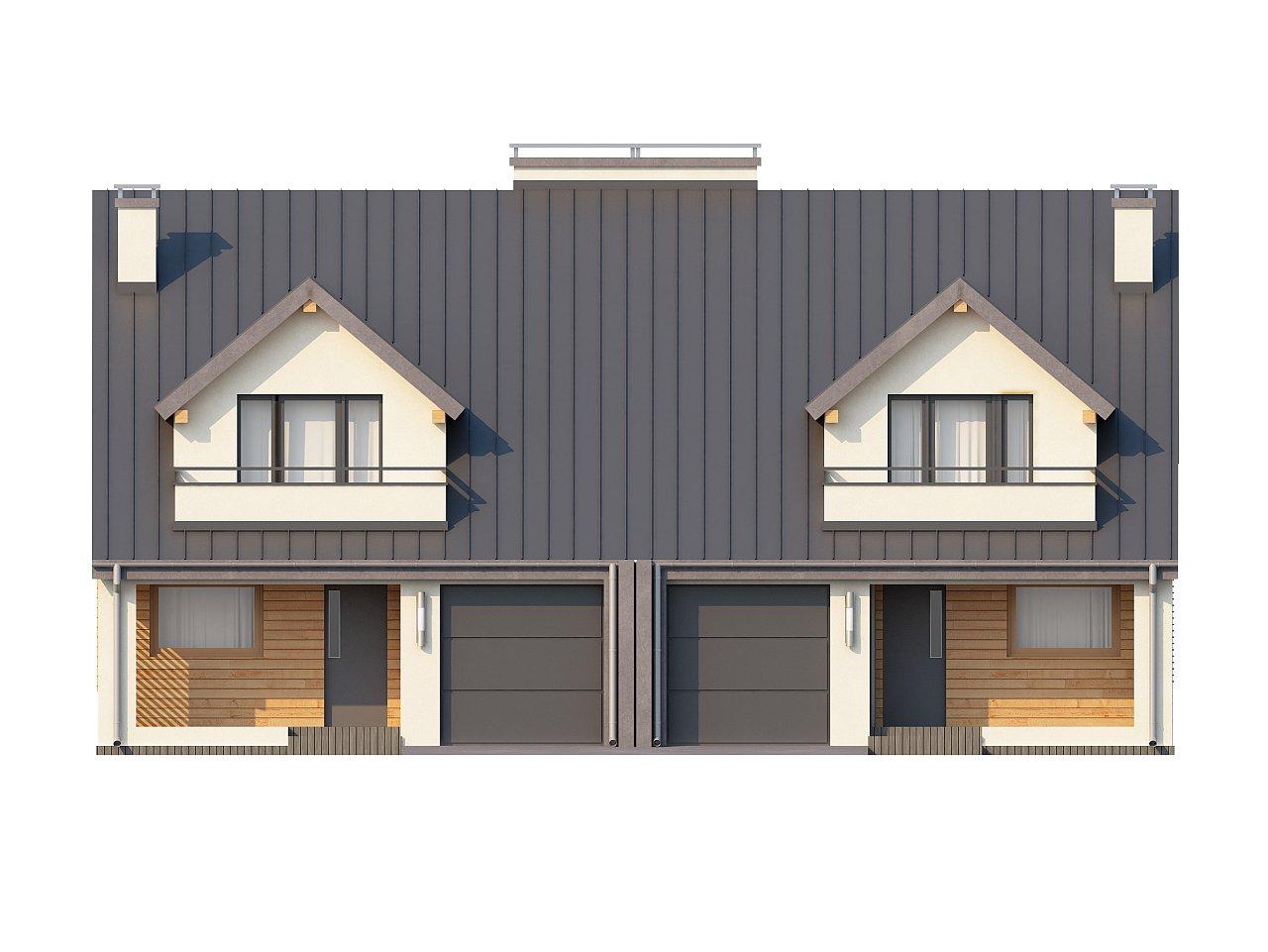 Проект стильного, функционального и недорогого двухсемейного дома. 21