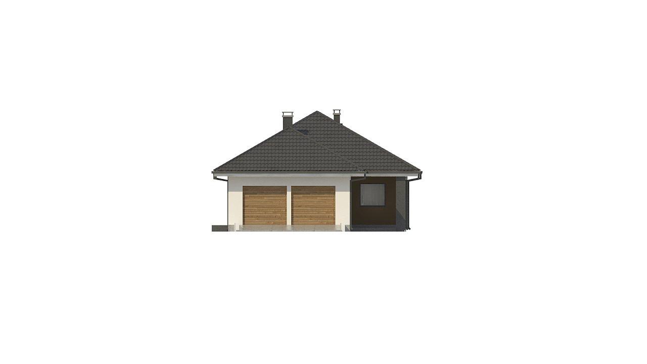 Одноэтажный дом в современном стиле с двойным гаражом 20