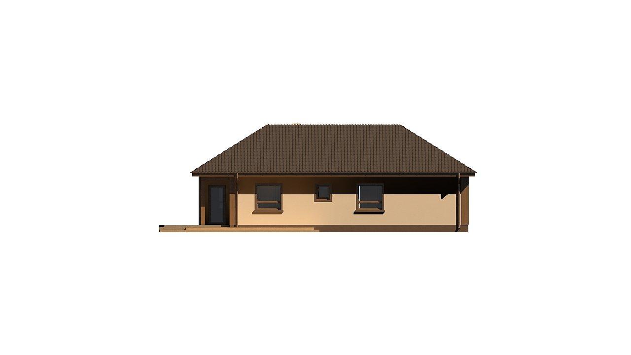 Версия проекта Z15 со вcтроенным гаражом с левой стороны. 4