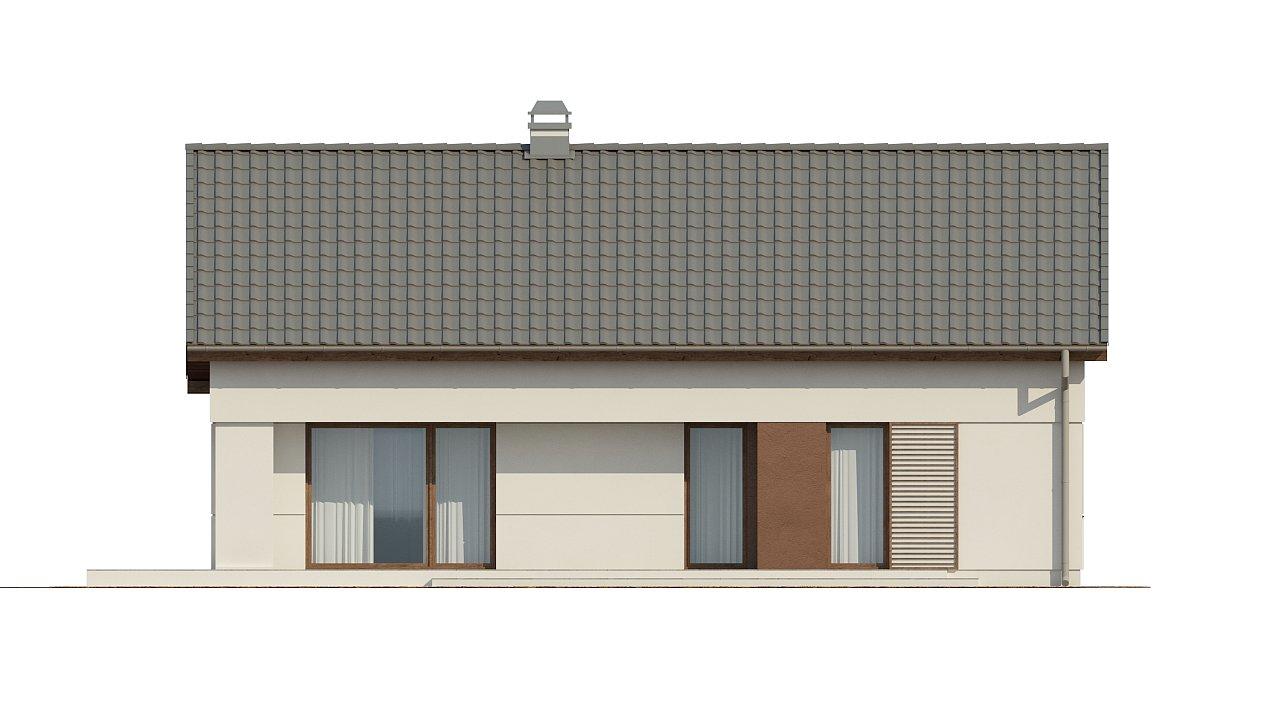 Компактный одноэтажный дом простой формы с возможностью обустройства чердачного помещения. 23