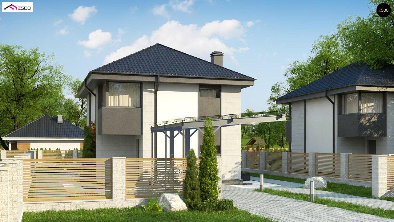 Современный двухэтажный дом с практичной планировкой 4