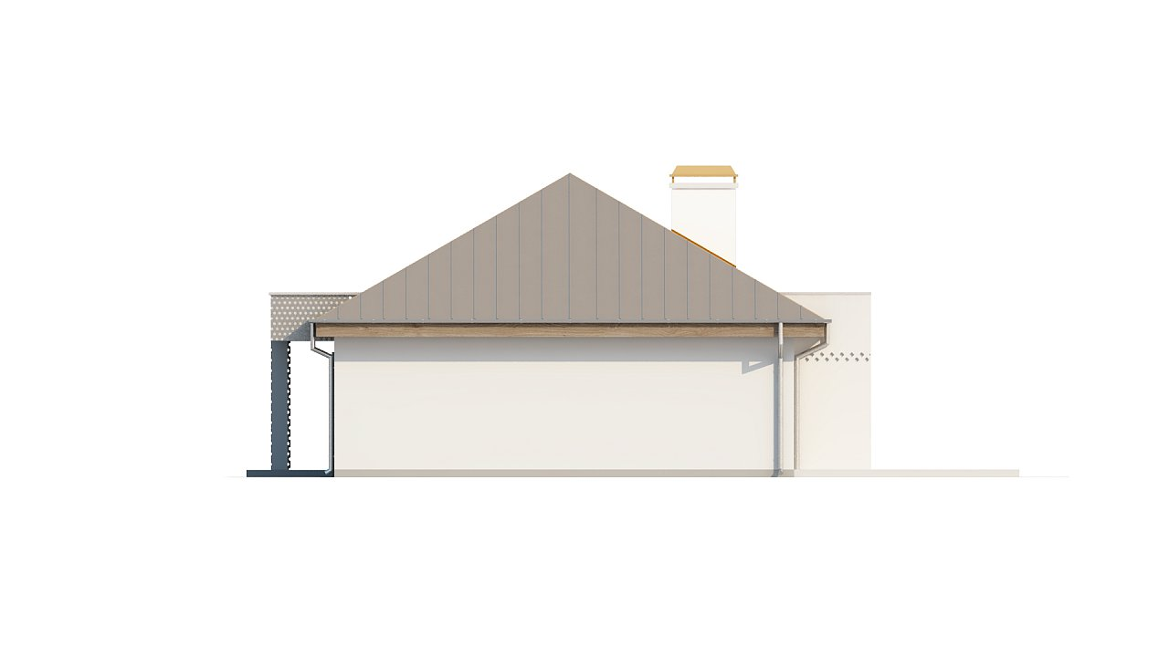 Проект одноэтажного дома с гаражом, с четко выделенной приватной зоной. 7