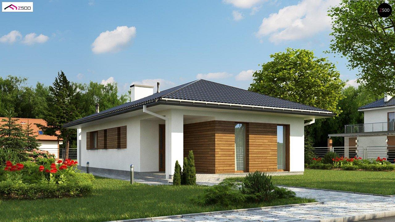 Одноэтажный функциональный дом для небольшой семьи - фото 1