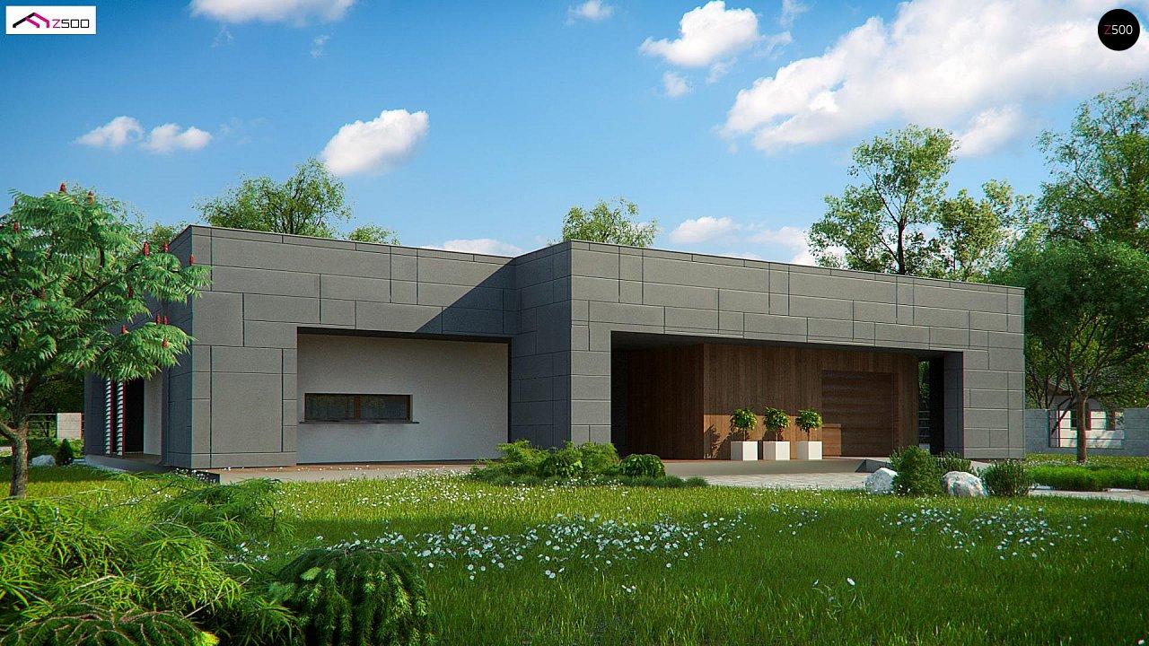 Современный односемейный одноэтажный дом с плоской крышей - фото 1