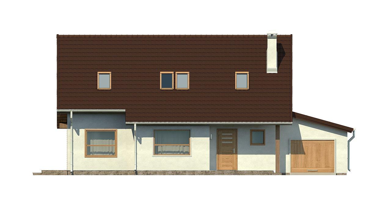 Версия проекта Z79 с гаражом с правой стороны. 21