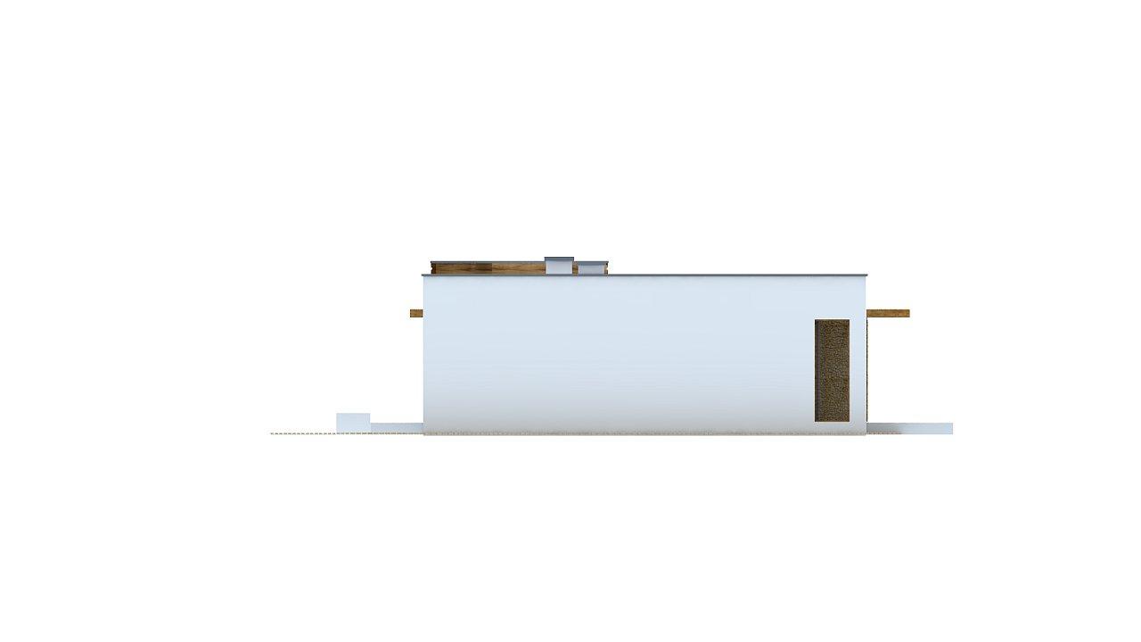 Современный комфортабельный одноэтажный дом с функциональным интерьером и уютной террасой. 28