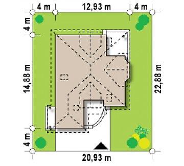 Проект просторного и уютного дома с гаражом, эркером, красивыми мансардными окнами. план помещений 1