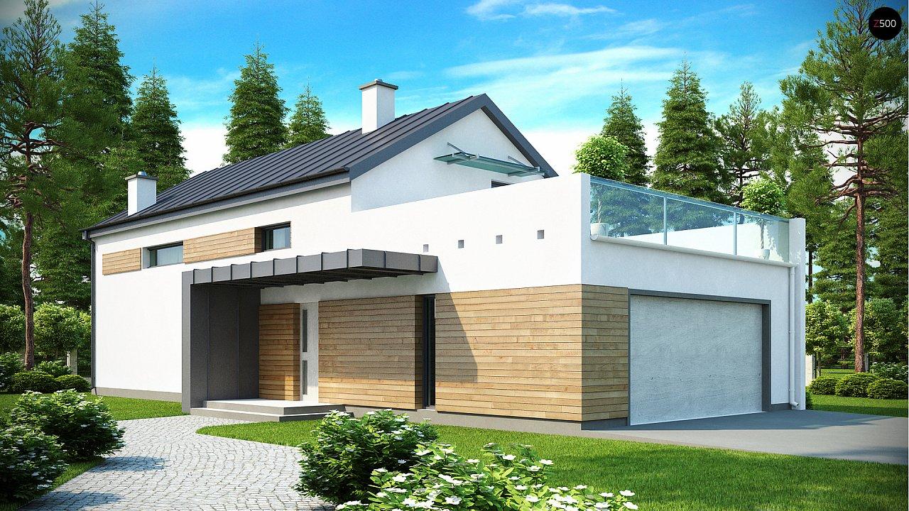 Дом современного простого дизайна. Продольная форма, уютный комфортный интерьер. - фото 1