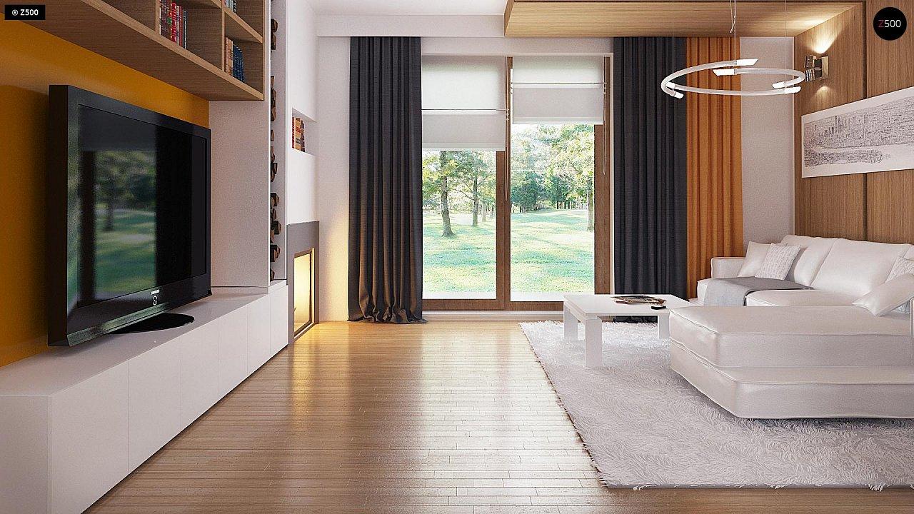 Экономичный в реализации одноэтажный дом с просторной гостиной и двумя спальнями. 4