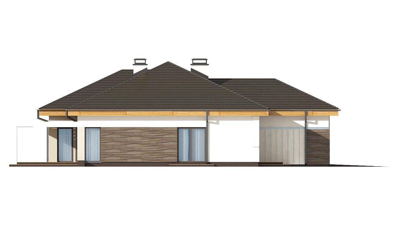 вариант проекта Z96 с измененной формой крыши и с крытой террасой. 14