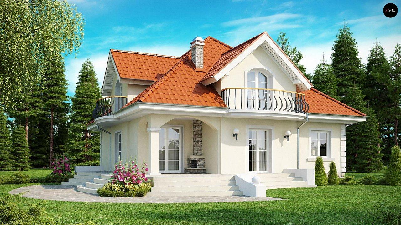 Проект красивого мансардного дома, адаптированный для каркасной технологии 1