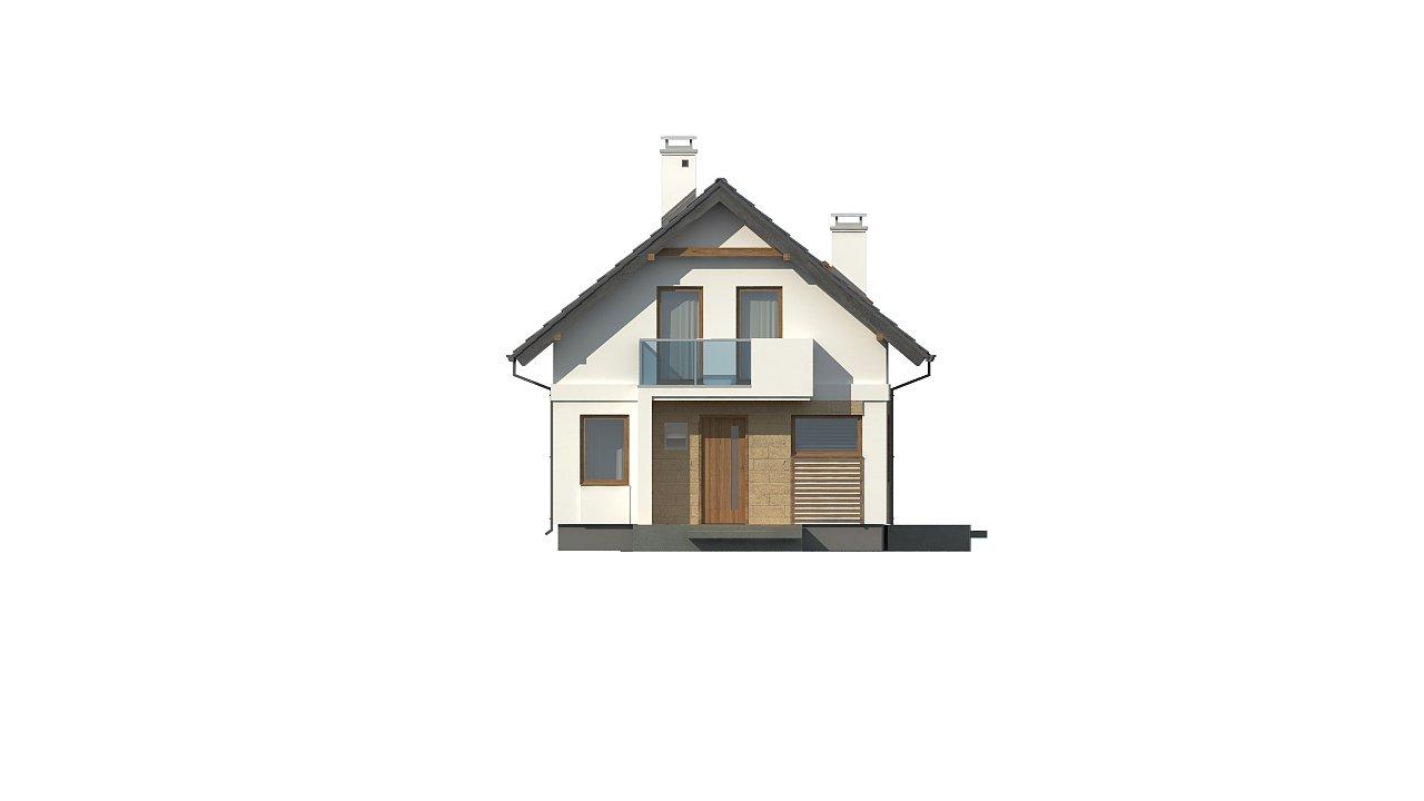 Версия дома Z177 с гаражом, пристроенным с левой стороны. 13