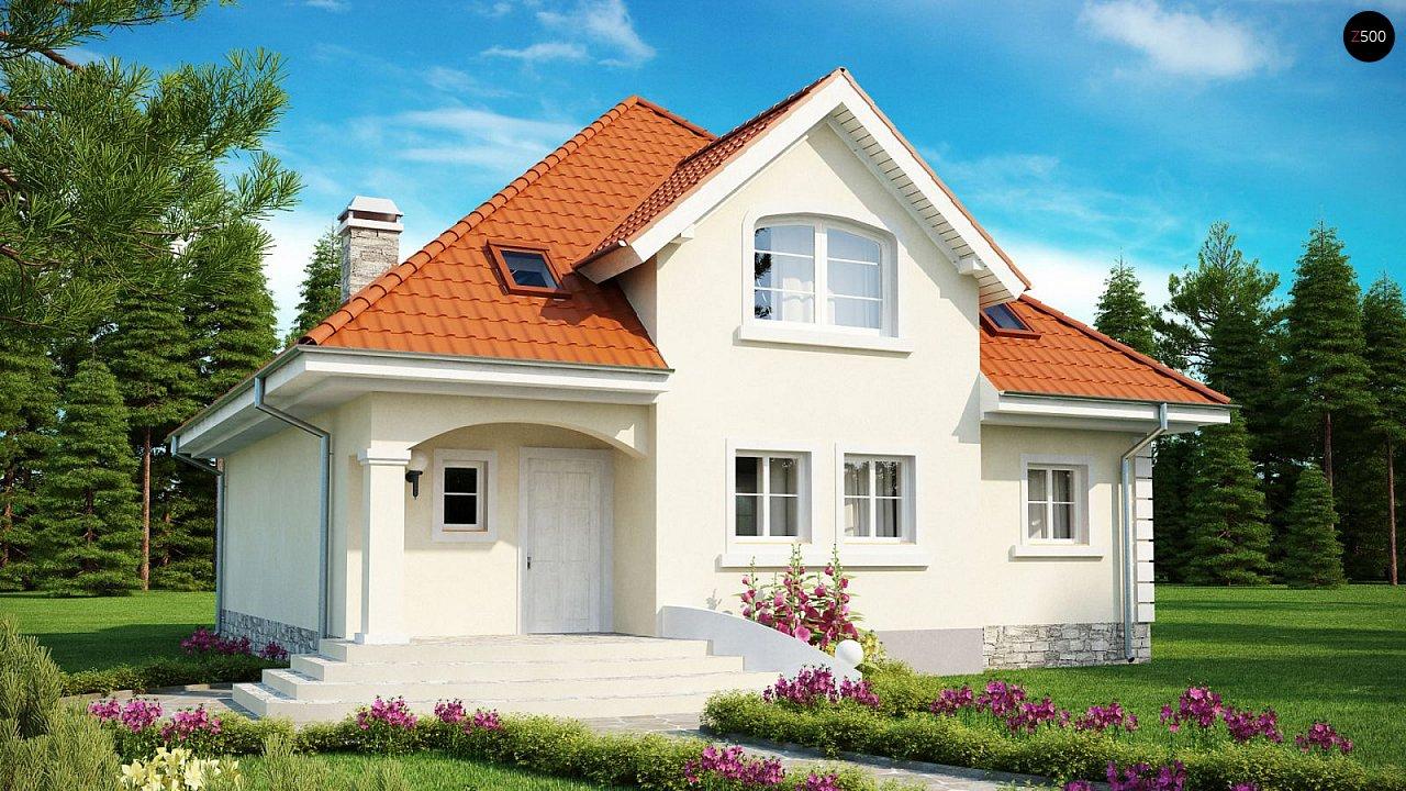 Проект красивого мансардного дома, адаптированный для каркасной технологии 2