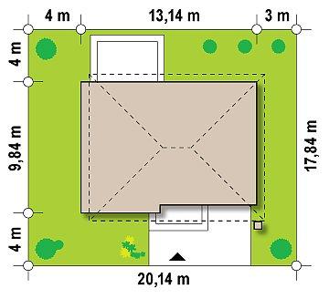 Просторный двухэтажный дом минималистичного современного дизайна. план помещений 1