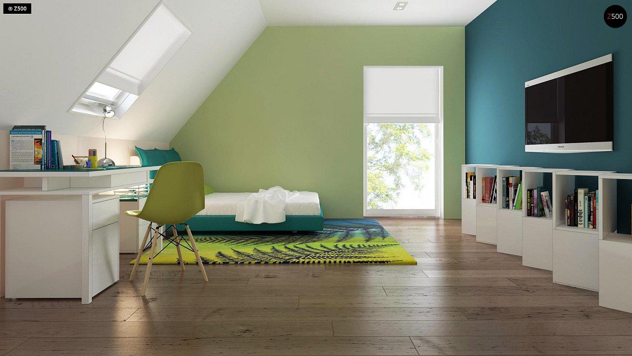 Проект практичного дома с большим хозяйственным помещением, с кабинетом на первом этаже. 14