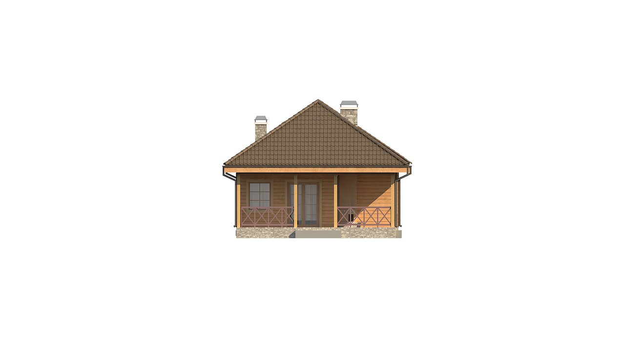 Вариант дома Z16 с мансардой - фото 17