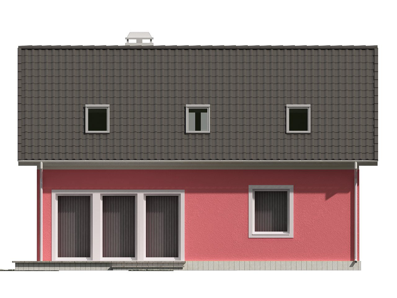 Практичный дом для небольшого участка, простой в строительстве, дешевый в эксплуатации. 22