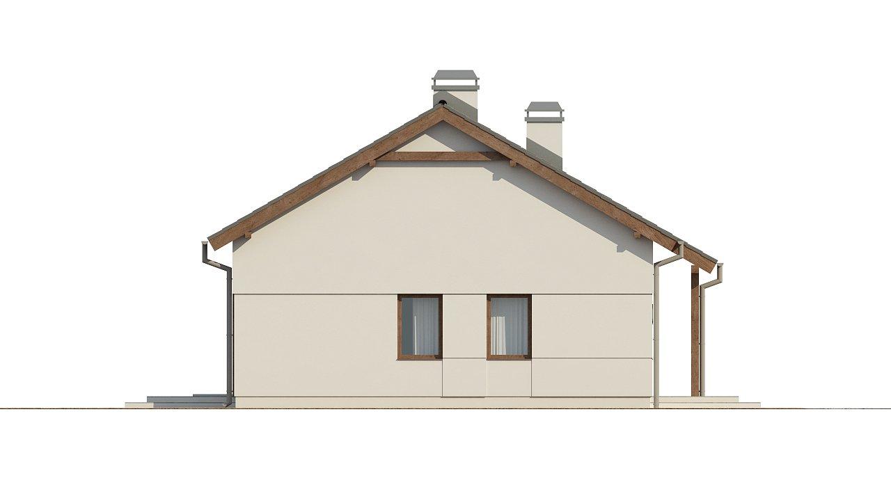 Компактный одноэтажный дом простой формы с возможностью обустройства чердачного помещения. 24