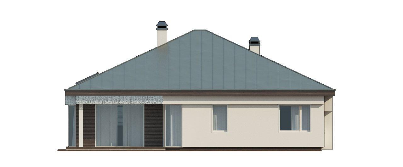 Вариант проекта Z200 с кирпичной облицовкой фасадов. 26