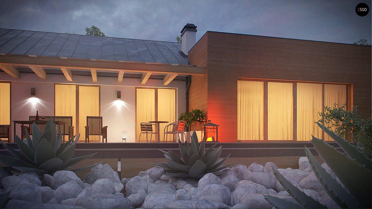 Комфортный функциональный одноэтажный дом простой формы и с гаражом для двух авто. 10