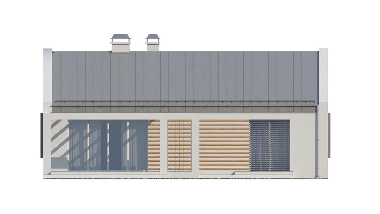 Простой и недорогой в строительстве энергосберегающий дом современного дизайна. 15