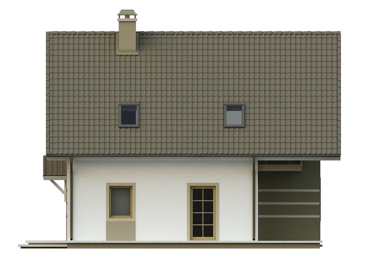 Стильный дом с мансардой, экономичный в строительстве и эксплуатации. 5