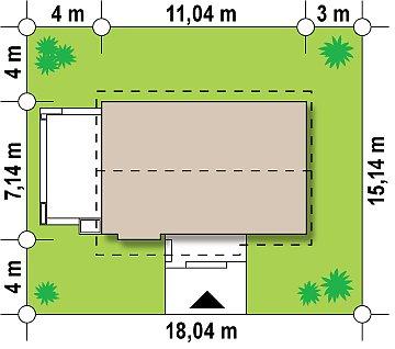 Маленький и функциональный одноэтажный дом, выгодный в строительстве и эксплуатации. план помещений 1