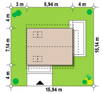 Дом с мансардным этажом, адаптированный для сейсмоопасных регионов. план помещений 1