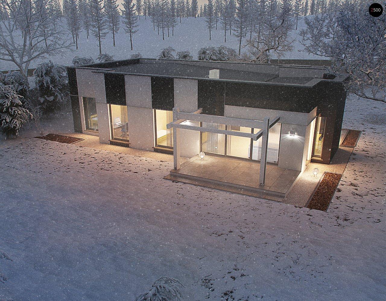 Одноэтажный комфортный дом в стиле хай-тек. 11