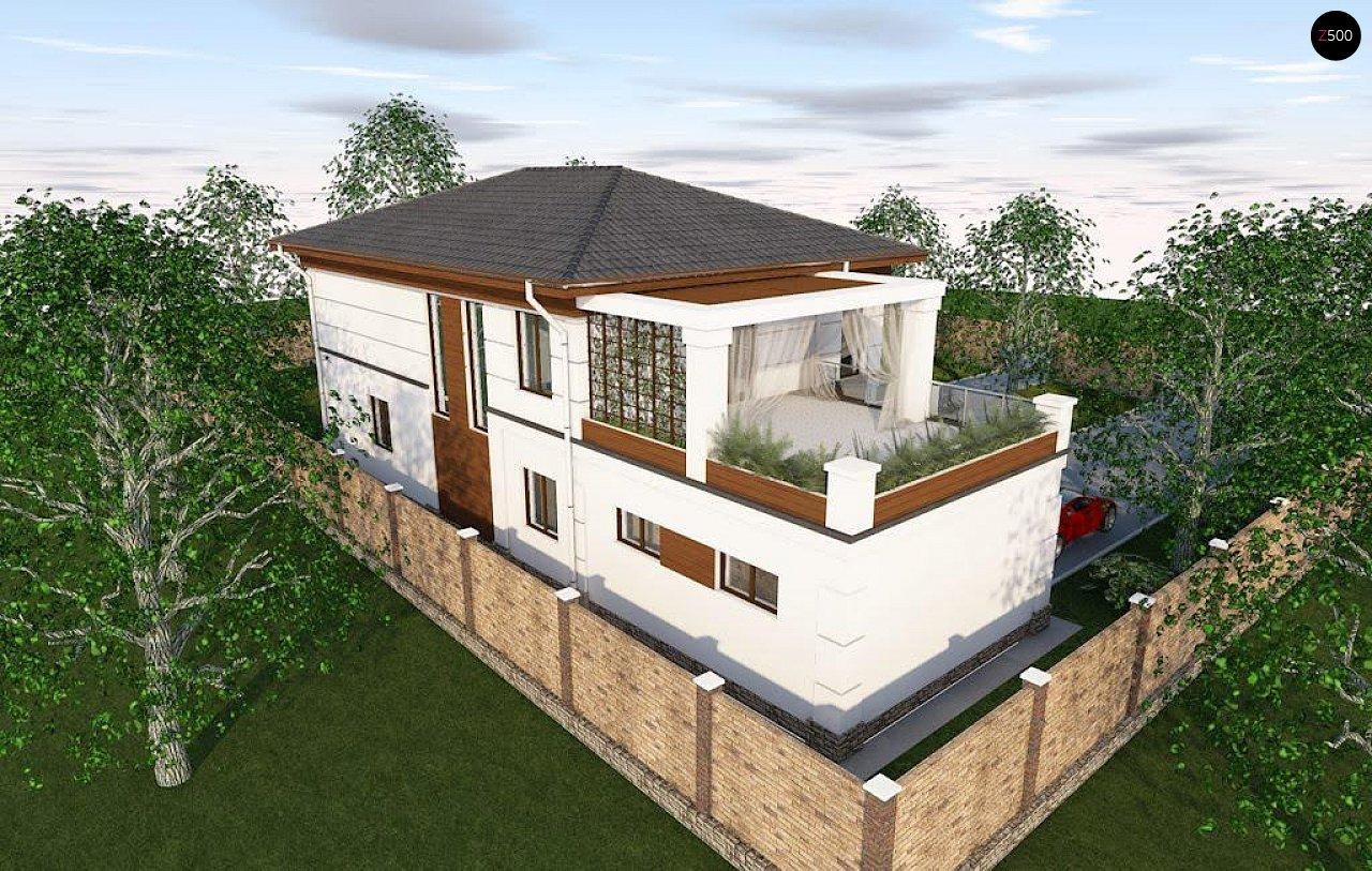 Проект стильного и просторного дома с элементами классической архитектуры. - фото 6