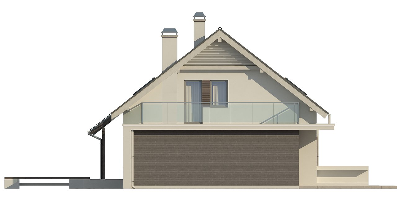 Удобный дом с эркером, балконом и террасой над гаражом. 6