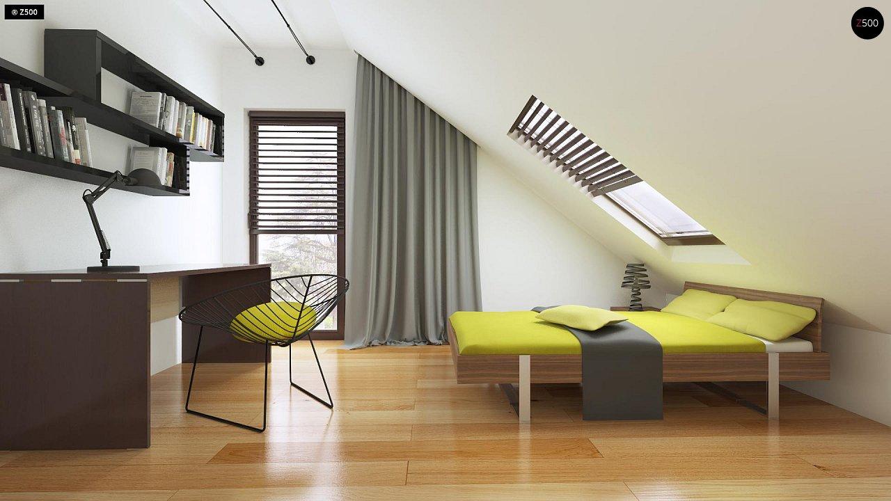 Небольшой дом с дополнительной комнатой на первом этаже, большим хозяйственным помещением и эркером в столовой. 18