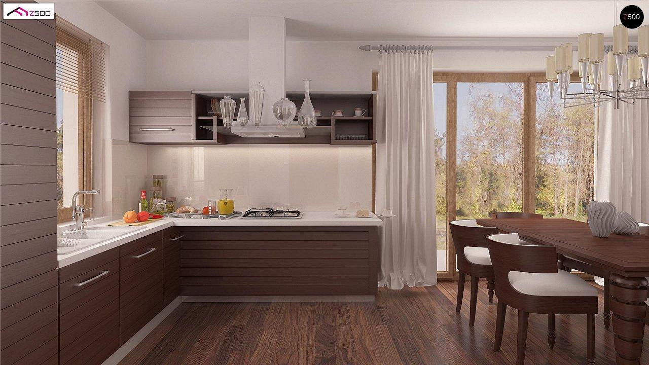 Проект простого и аккуратного дома с дополнительной ночной зоной на первом этаже. 7