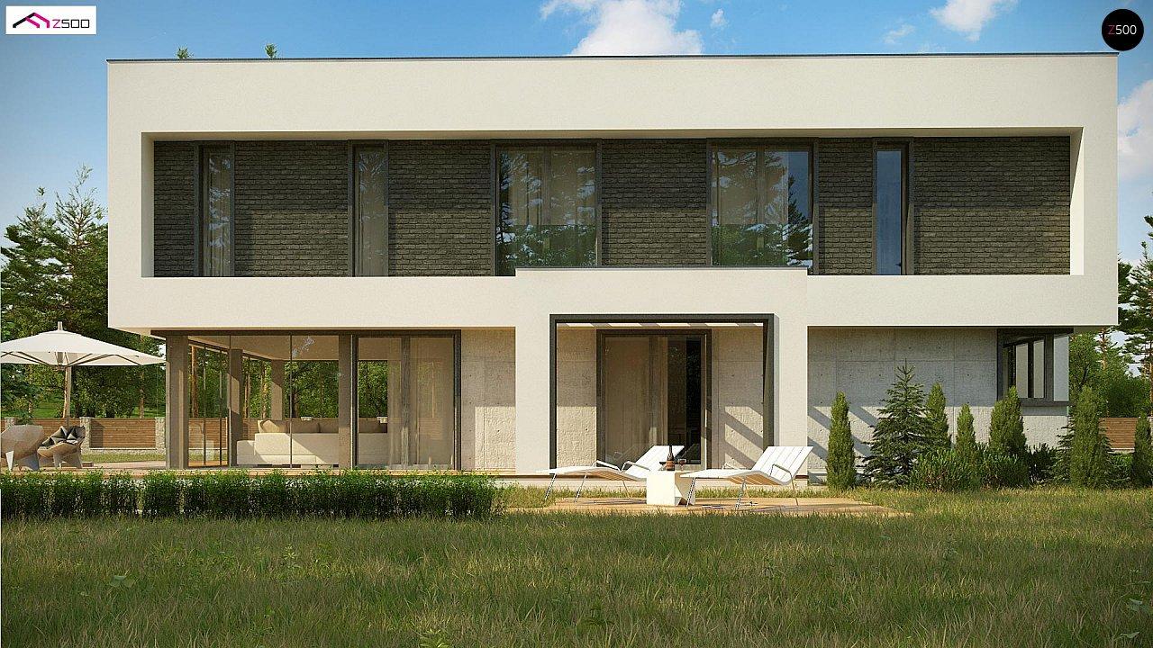 Современный двухэтажный дом с просторной террасой и гаражом на две машины. - фото 9