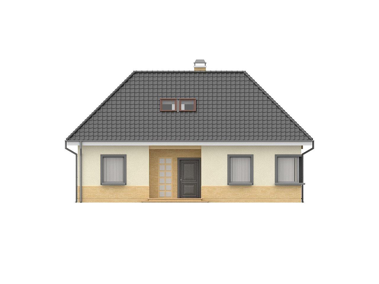 Традиционный дом с мансардой, с большим углом наклона крыши. - фото 3