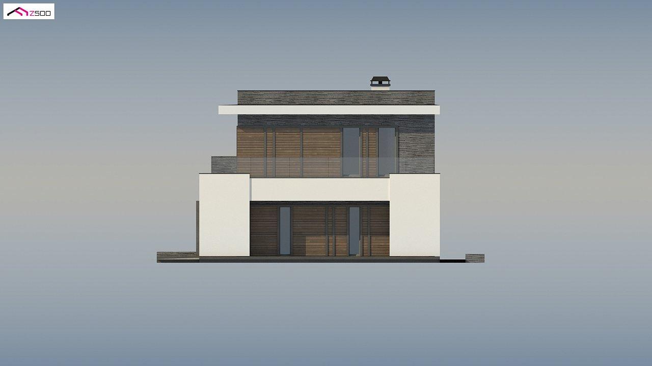 Стильный дом в современном стиле с просторной террасой на втором этаже. 10