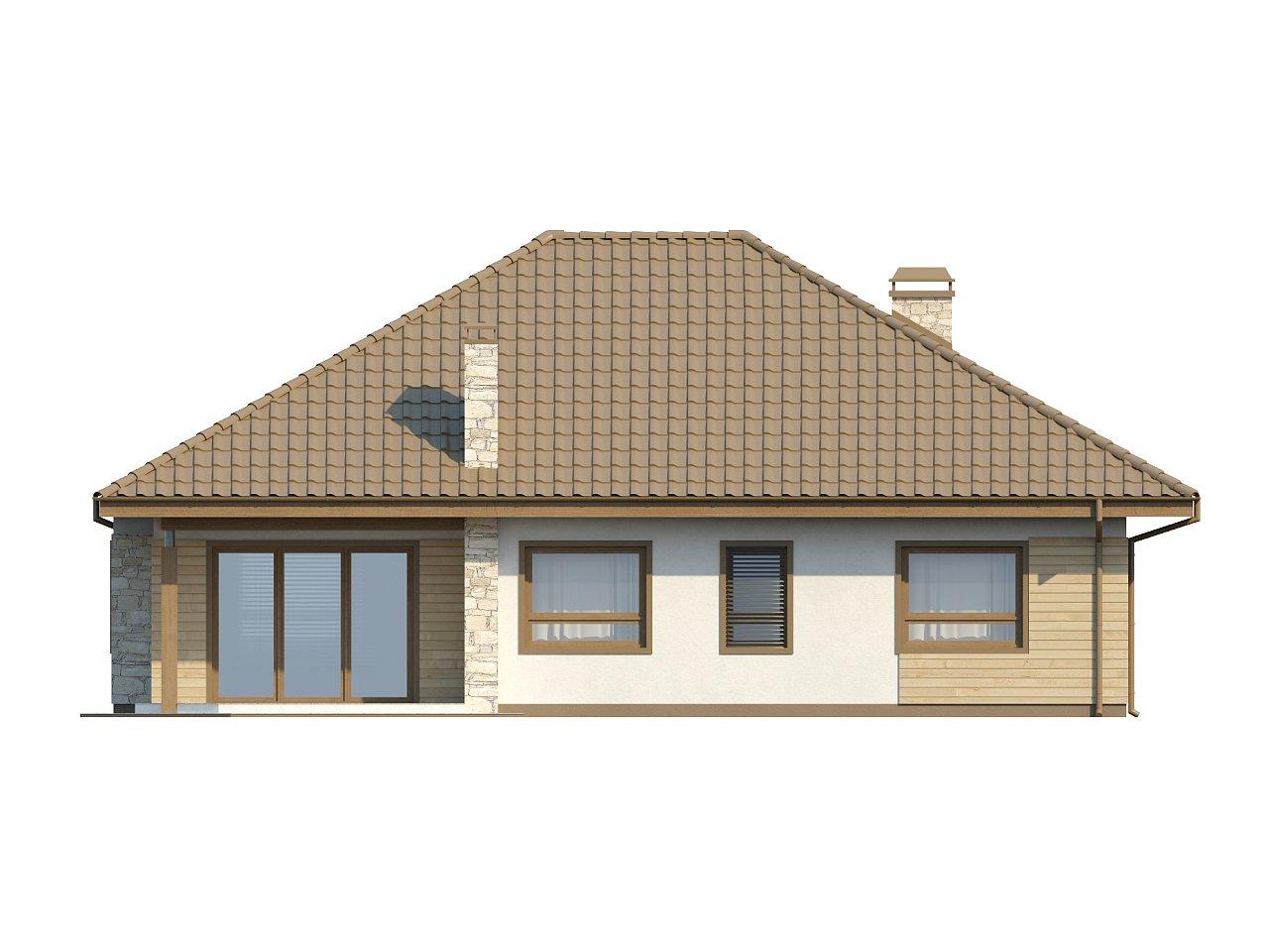 Одноэтажный удобный дом с фронтальным гаражом, с возможностью обустройства мансарды. - фото 15