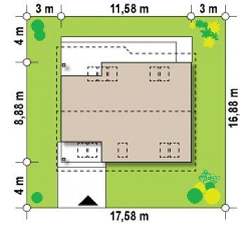 Проект комфортного и выгодного дома. план помещений 1