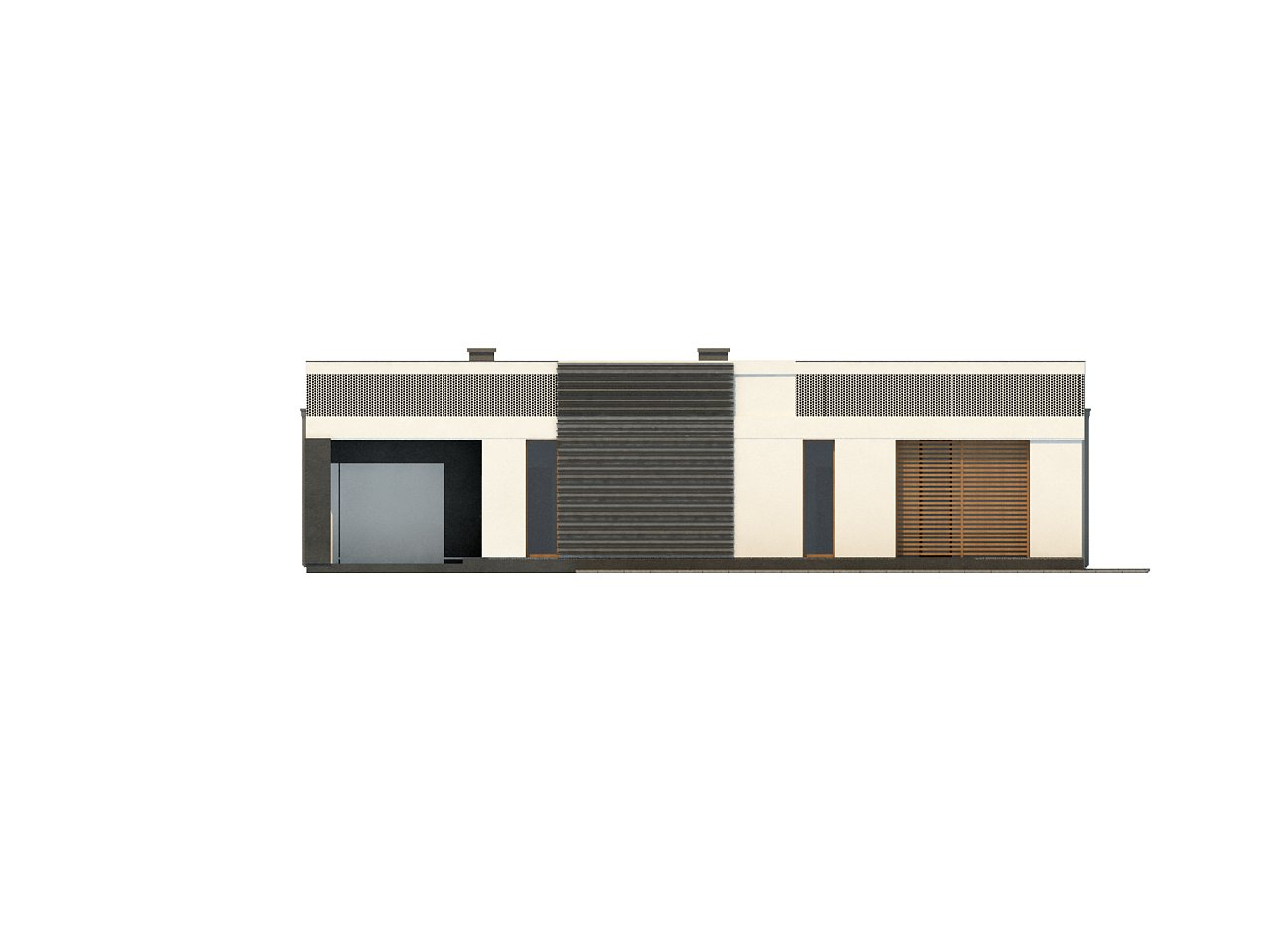 Проект дома в современном стиле с закрытой террасой - фото 13