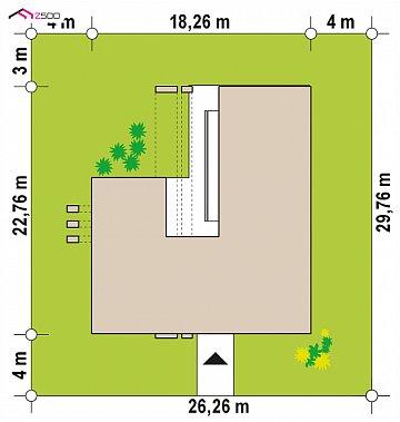 Современный дом с одноуровневой планировкой для большой семьи. план помещений 1